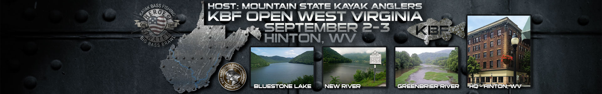 KBF OPEN Sept 2-3, Hinton, WV