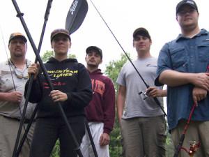 ne with other kayak anglers