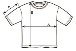 t-shirt dimensions