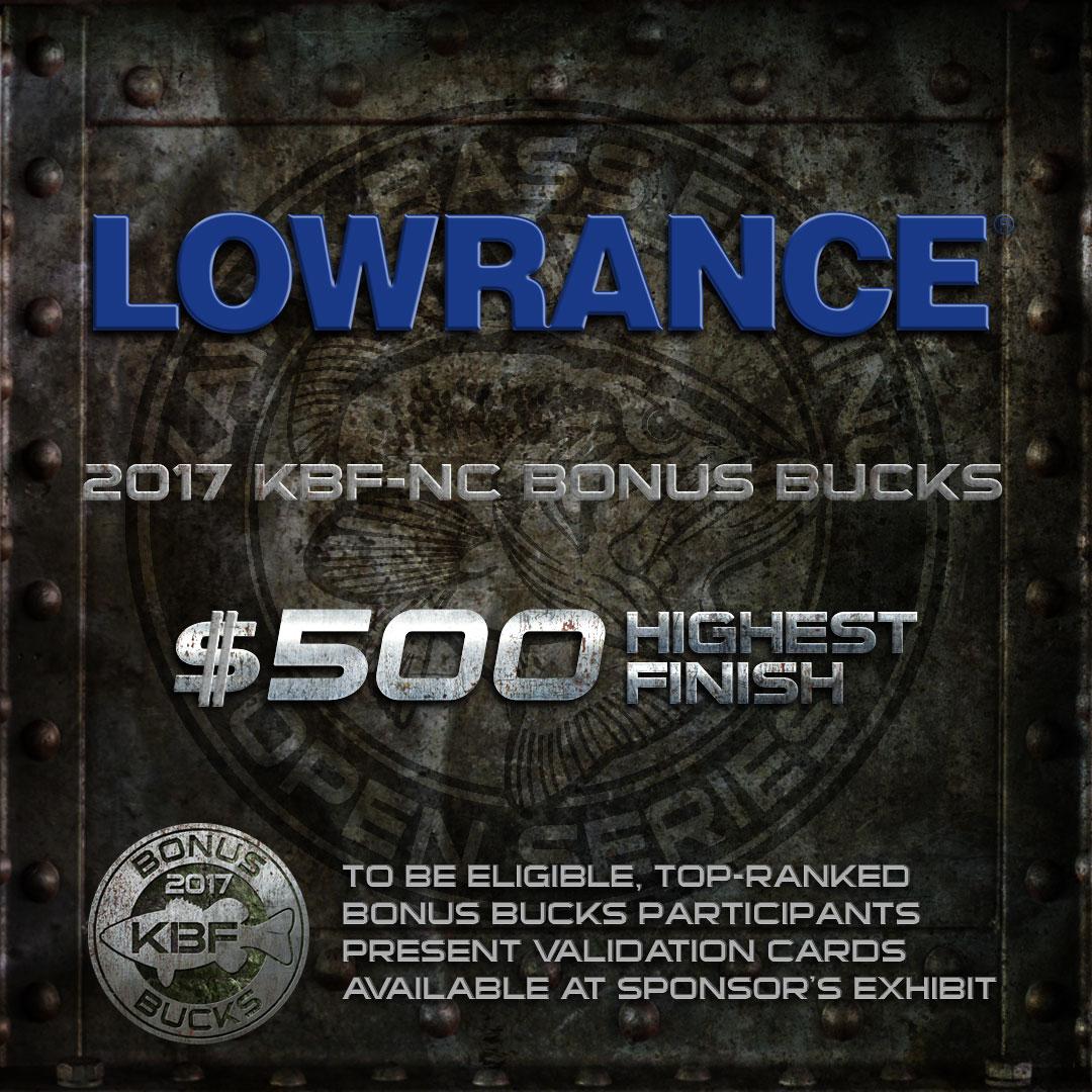 LOWRANCE KBF BONUS BUCKS - KBF National Championship