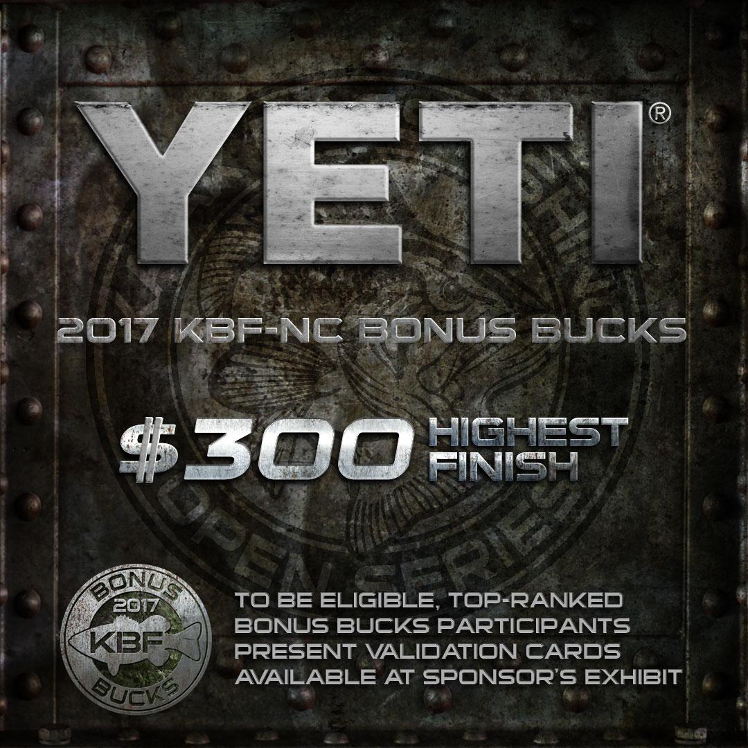 YETI KBF BONUS BUCKS - KBF National Championship