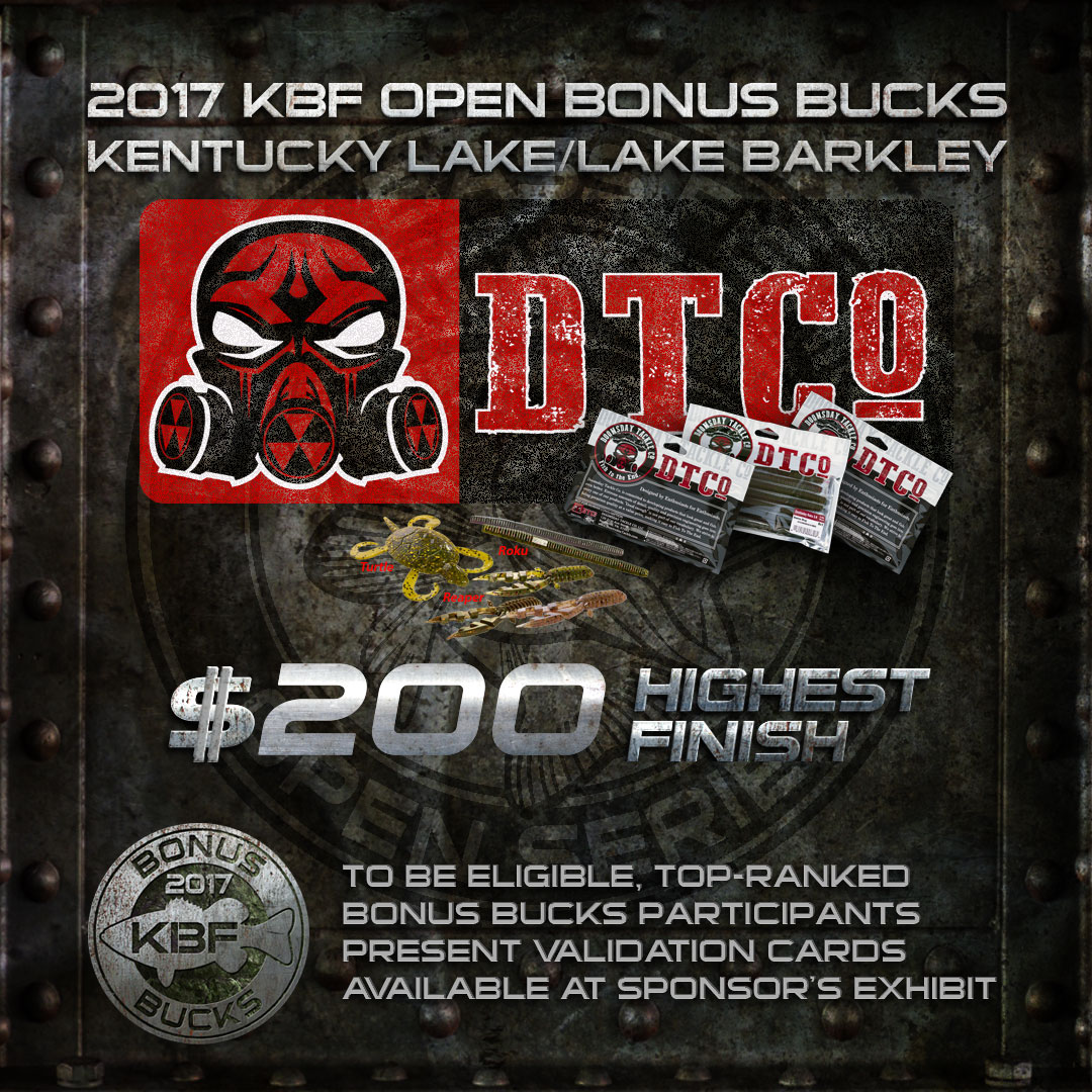 DOOMSDAY TACKLE BONUS BUCKS at the KBF OPEN