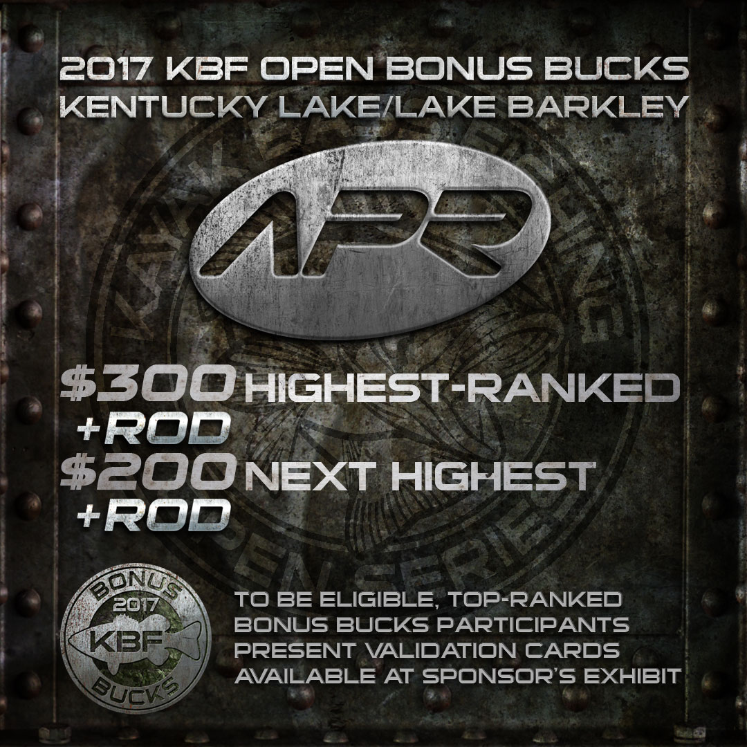 All Pro Rods KBF BONUS BUCKS - KBF OPEN