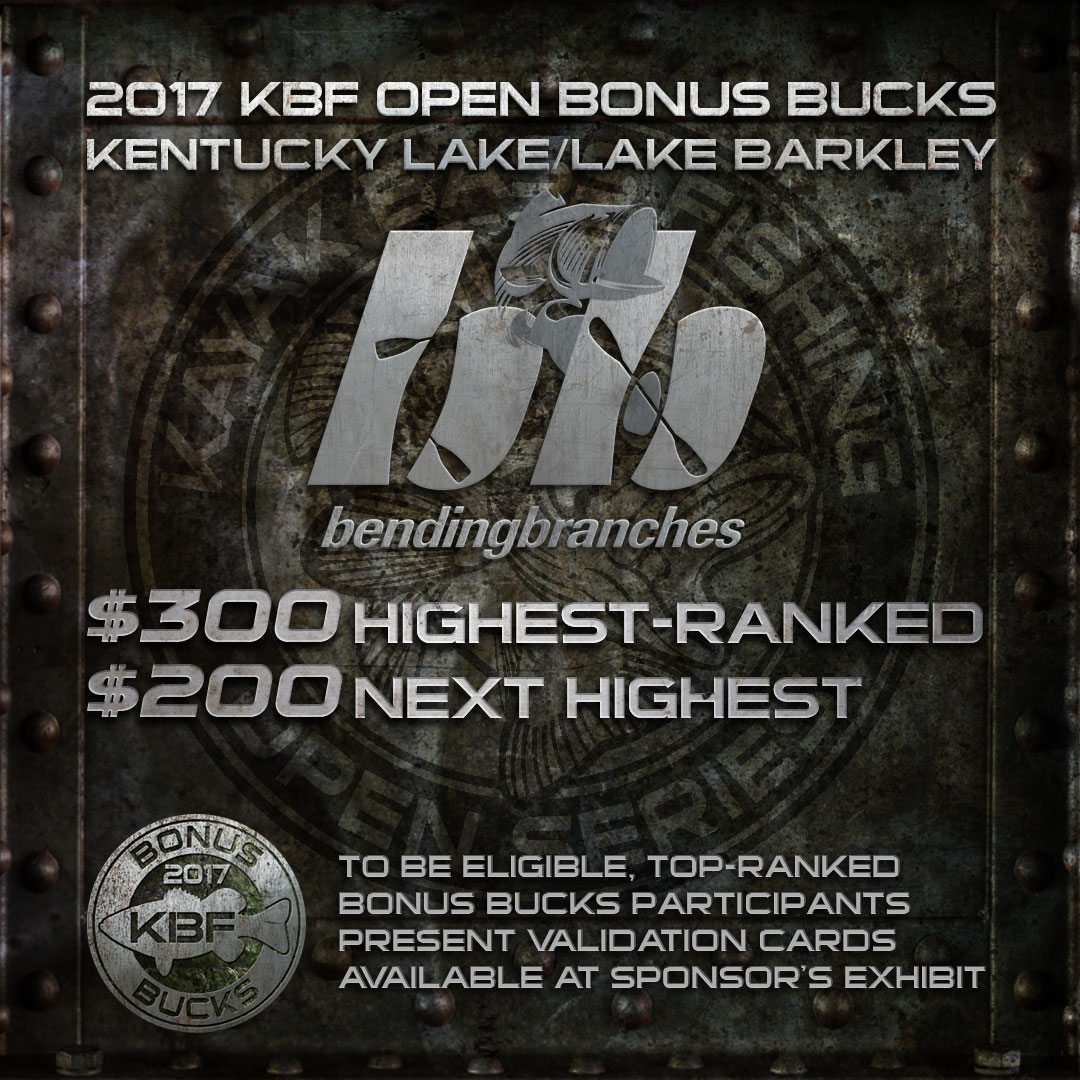 Bending Branches BONUS BUCKS at the KBF OPEN