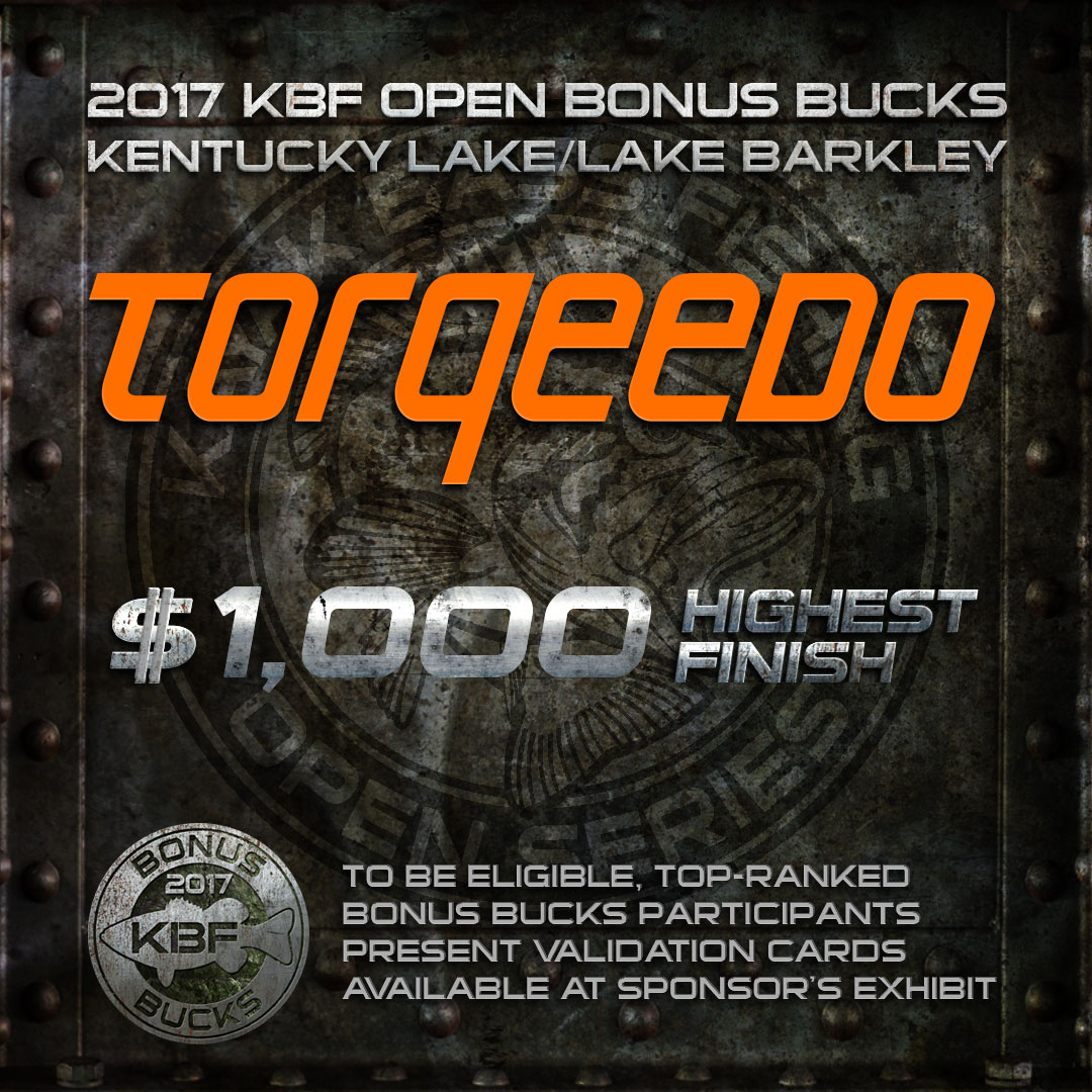 Torqeedo BONUS BUCKS at the KBF OPEN