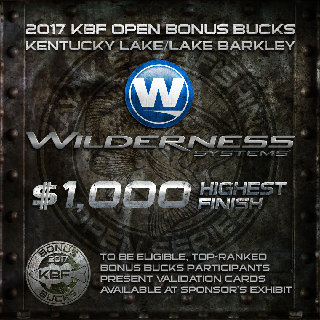 Wilderness Systems BONUS BUCKS at the KBF OPEN