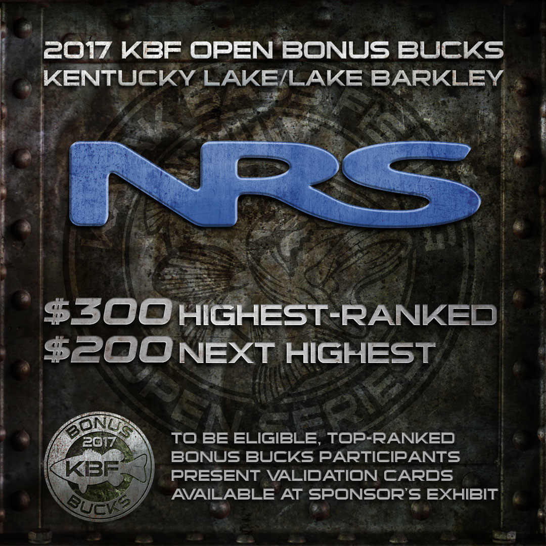 NRS BONUS BUCKS at the KBF OPEN