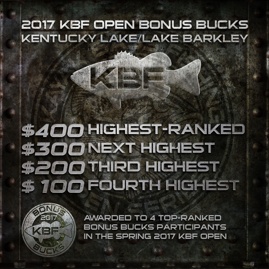 KBF BONUS BUCKS at the KBF OPEN