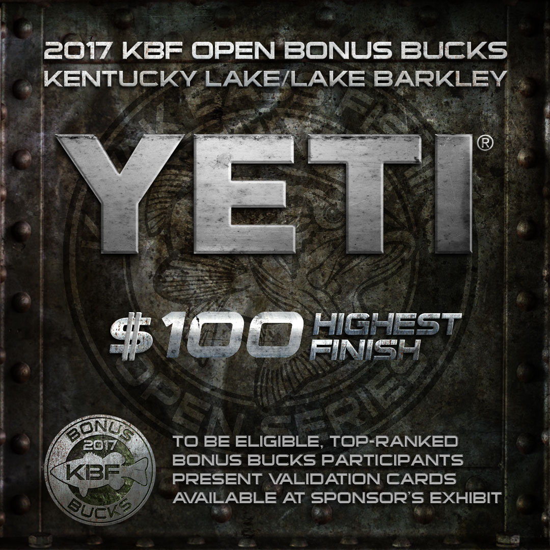 YETI BONUS BUCKS at the KBF OPEN