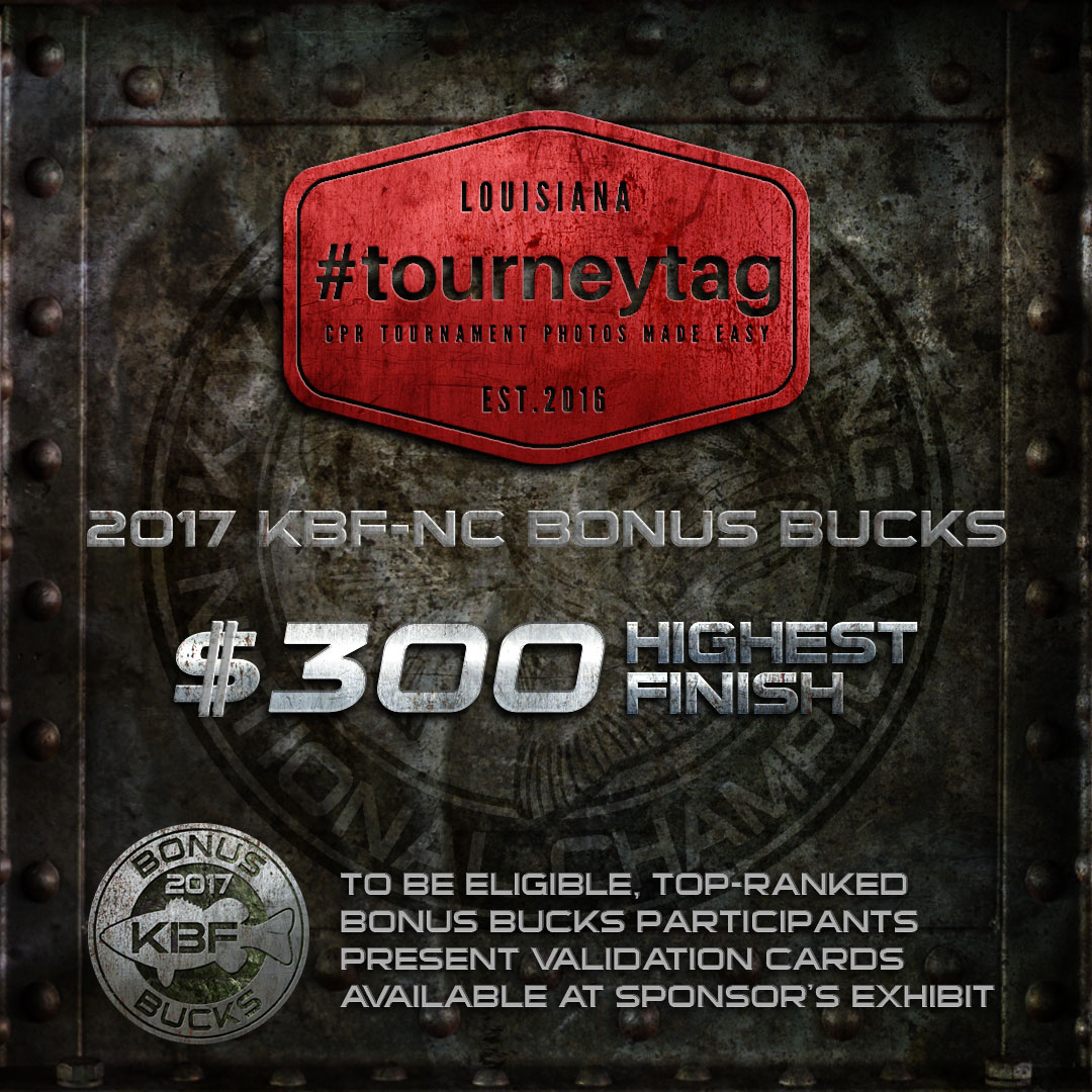 Tourney Tags KBF BONUS BUCKS - 2017 National Championship