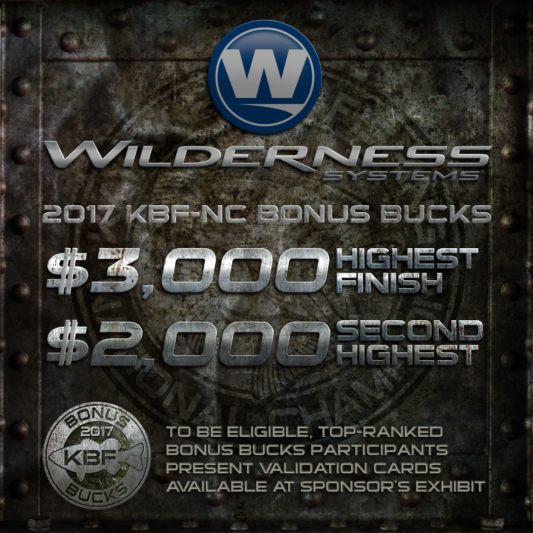 Wilderness Systems KBF BONUS BUCKS - 2017 National Championship