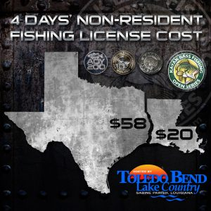 LA-TX Non-resident Fishing Licenses
