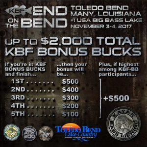 KBF BONUS BUCKS Contingency Awards