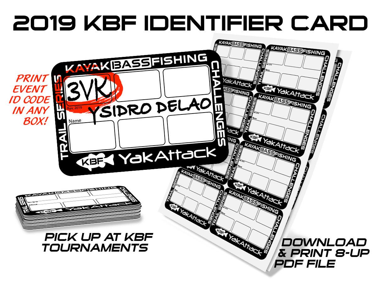 KBF Identifier Card | Kayak Bass Fishing