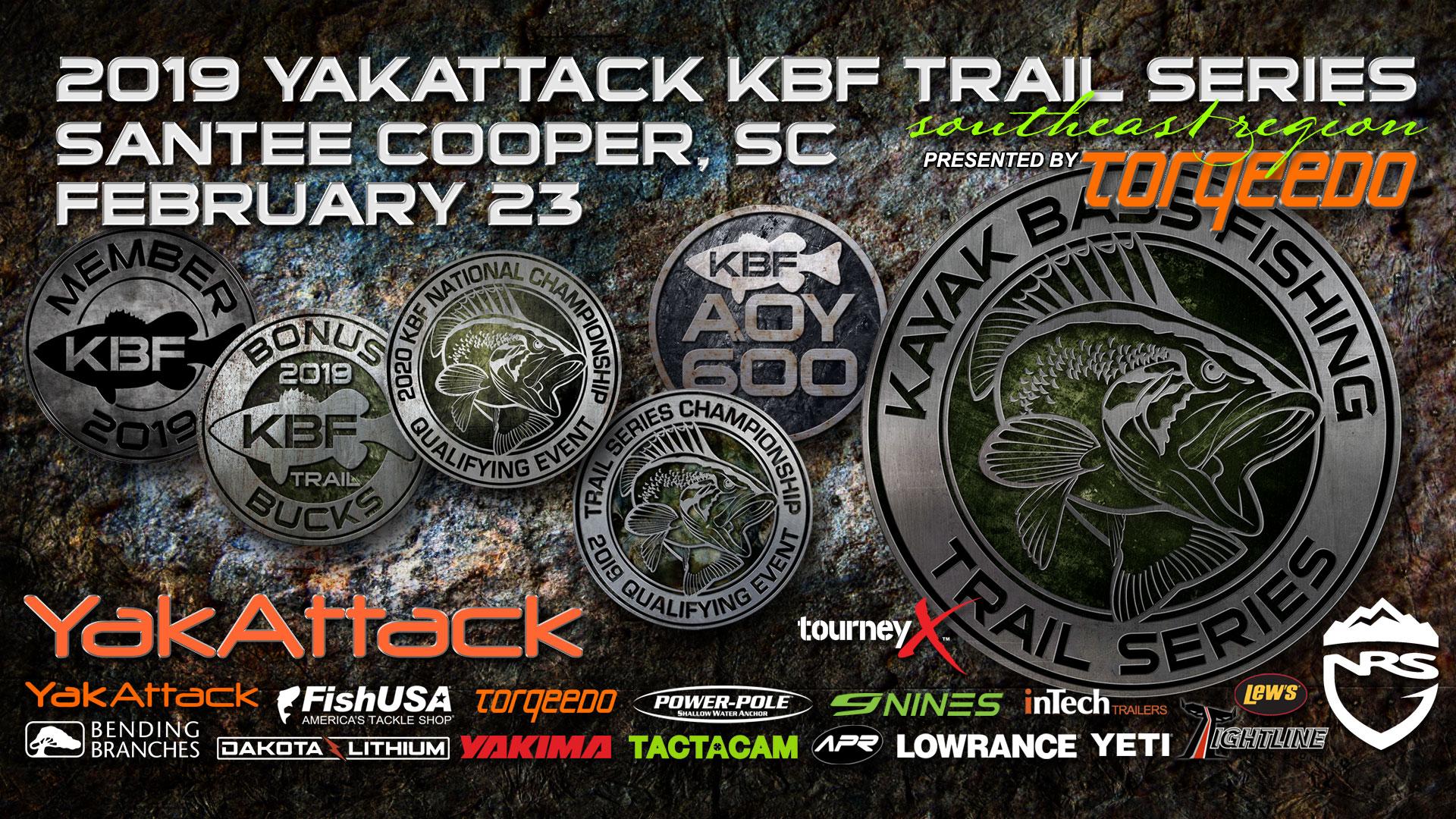 2019 YakAttack KBF TRAIL Santee Cooper SC   Kayak Bass Fishing