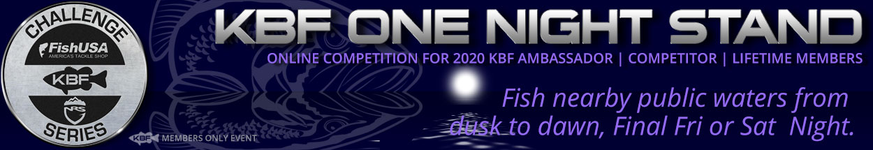 April 2020 KBF One Night Stand Regional Challenges